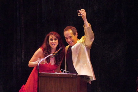 Co-hosts Lesli Margherita and Jason Graae. Photo by Ed Krieger.