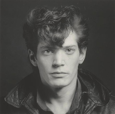 Self-Portrait, negative 1980; print 1990. Robert Mapplethorpe (American, 1946–1989). Gelatin silver print. The J. Paul Getty Museum, Los Angeles, Jointly acquired by The J. Paul Getty Trust and the Los Angeles County Museum of Art. Partial gift of The Robert Mapplethorpe Foundation; partial purchase with funds provided by The J. Paul Getty Trust and the David Geffen Foundation. © Robert Mapplethorpe Foundation