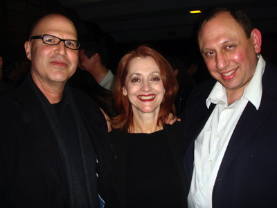 "Robert Riemer, Denise Devin, Zombie Joe in 2010 after a performance of ""Splendid Misery"" in New York City. Photo by Charles E. Rogers."