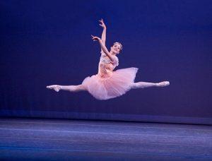 Isabel Vondermuhll in Balanchine's 'Raymonda Variations'. Photo: Reed Hutchinson.