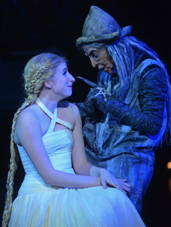 ITW -Royer Bockus as Rapunzel and Miriam A Laube as The Witch - Photo by Kevin Parry