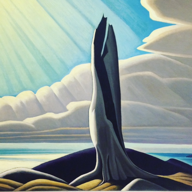 Lawren Harris, North Shore, Lake Superior, 1926. Oil on canvas 40 1/4 x 50 1/8 in. (102.2 x 127.3 cm). National Gallery of Canada; Purchased 1930. ©Family of Lawren S. Harris. Photo ©NGC. Photo by Pauline Adamek.