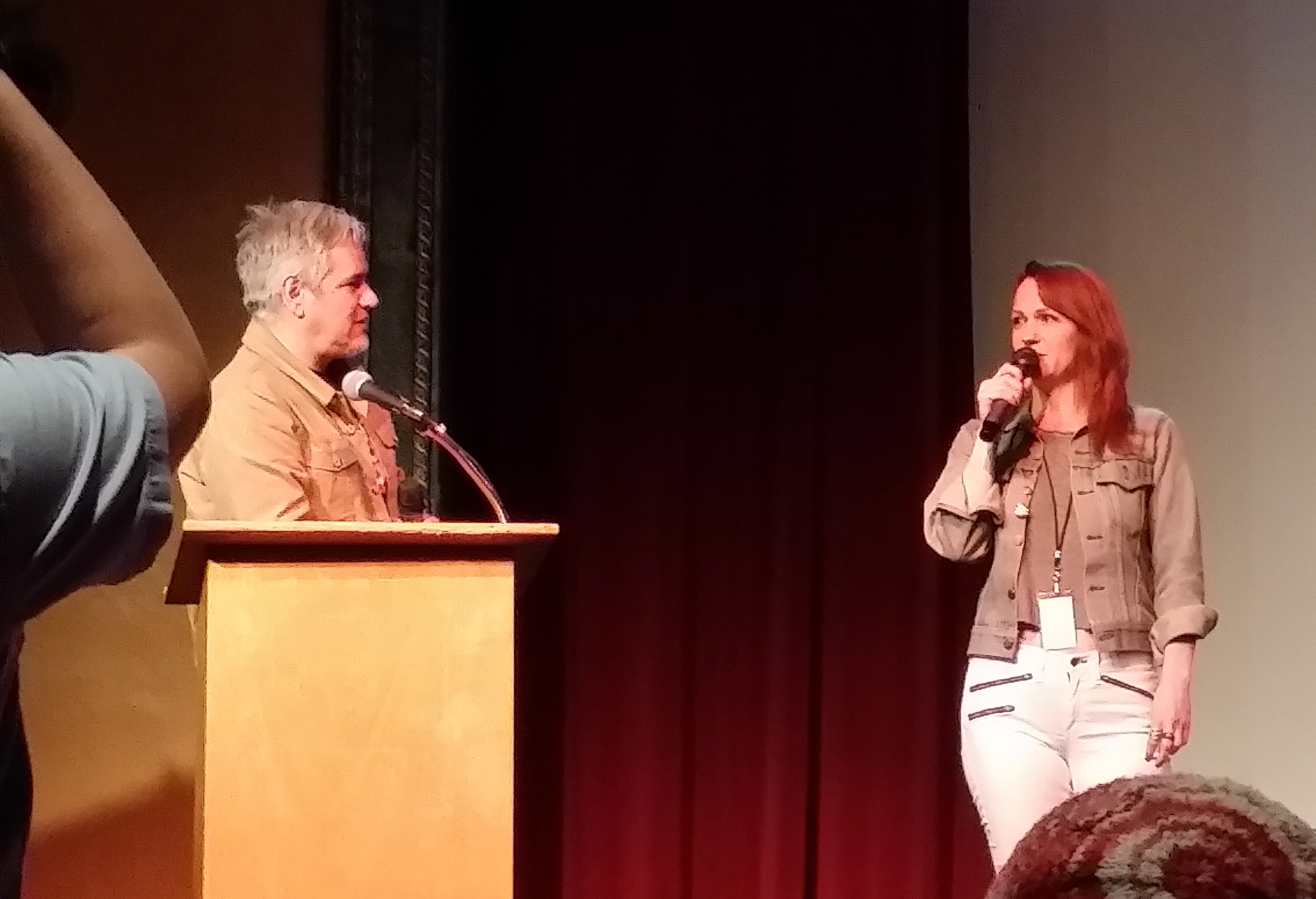 Director Angela Boatwright participates in a post-screening Q&A. Photo by Kurt Gardner.