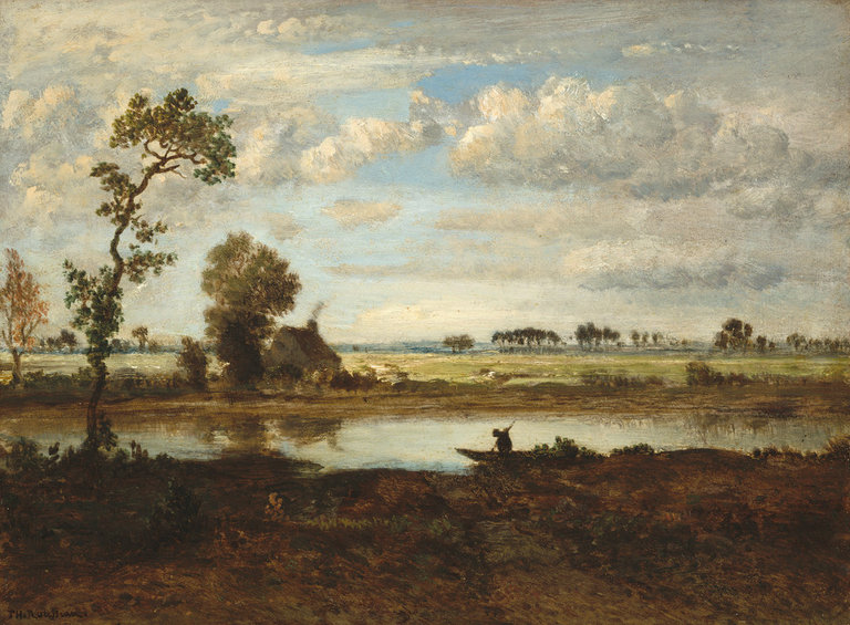 """Landscape with Boatman"" (about 1855-60) by Théodore Rousseau. Credit Théodore Rousseau, via National Gallery of Art, Washington."