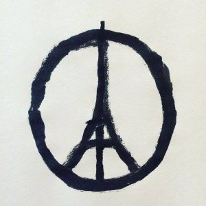 Paris Peace sign - Image created by Jean Jullien