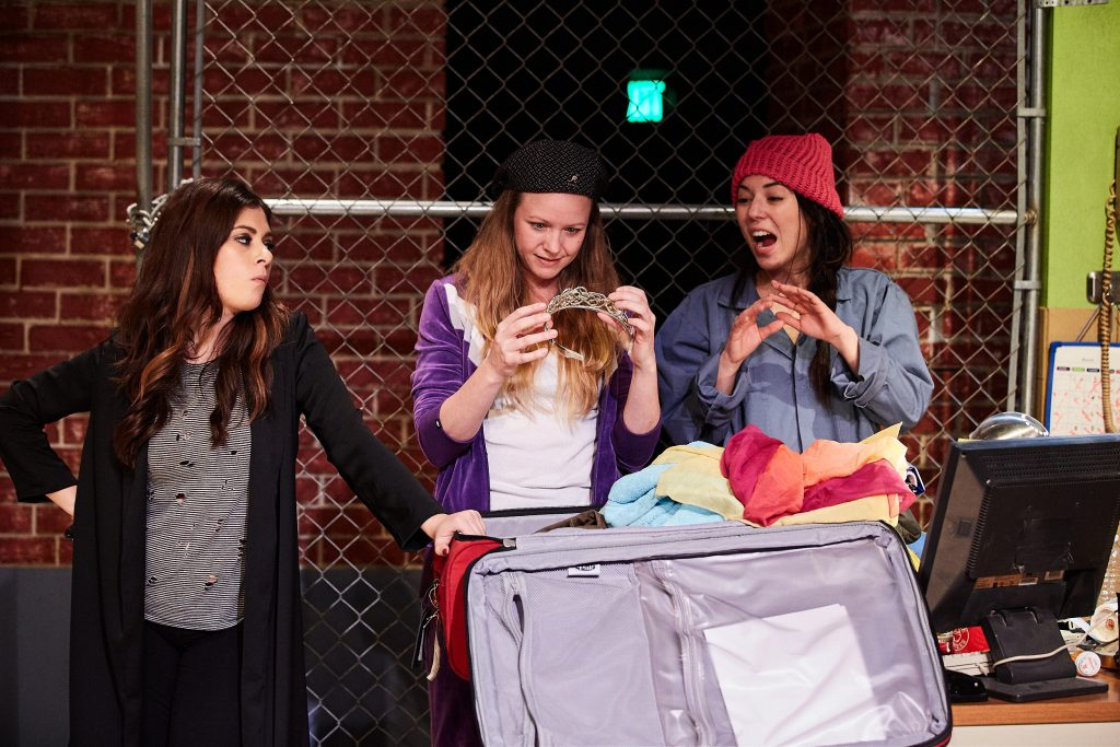 Cast (L - R):  Brittany Rizzo, Theresa Ireland, and Jacqueline Misaye PHOTO by www.dorensorellphotography.com