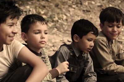 Left to right - Kevin Ruiz (Horse), Gabriel Solis (Abel), Luke Ganalon (Antonio) & Christian Traeumer (Bones).