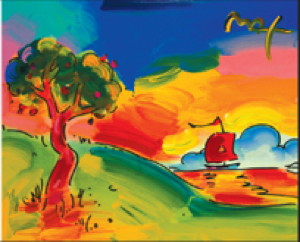 Peter Max's version of one of the masters.