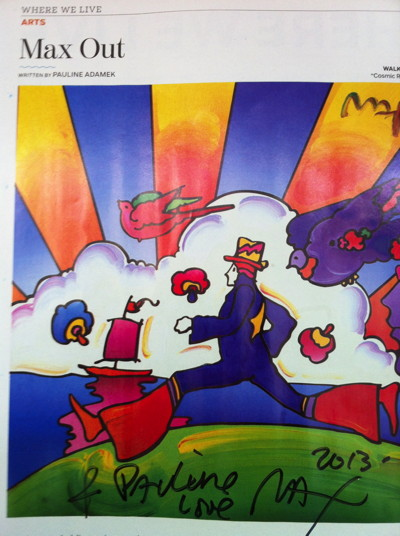 Peter Max  signed article -SM - iphoto