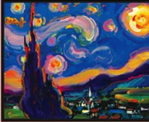 Peter Max's version of a Vincent van Gogh