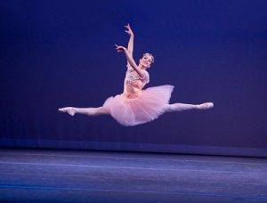 Isabel Vondermuhll in Balanchine's 'Raymonda Variations'. Photo: Reed Hutchinson.