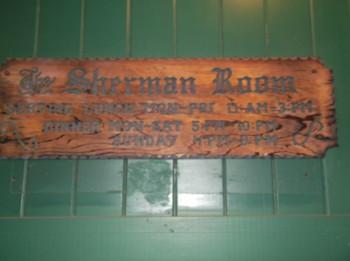 Sherman Room sign
