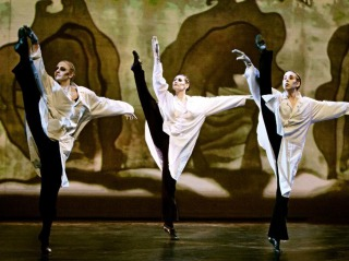 "The Astra Dance Company performs ""The Cabinet of Dr. Caligari."" Photograph: Bruno O'Hara, courtesy of Astra Dance Company."