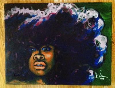 Erykah Badu portrait by Kristy Sandoval.