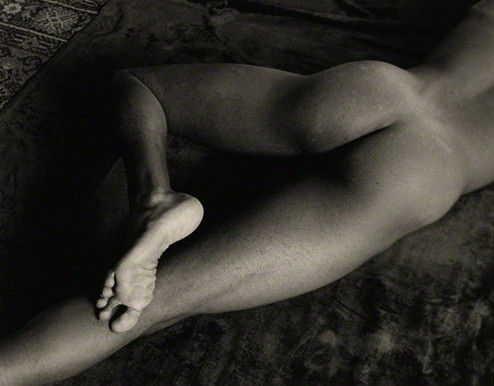 Nude Foot, San Francisco, California, 1947; print, 1975, Minor White, gelatin silver print. Promised gift of Daniel Greenberg and Susan Steinhauser to the J. Paul Getty Museum. Reproduced with permission of the Minor White Archive, Princeton University Art Museum. © Trustees of Princeton University.