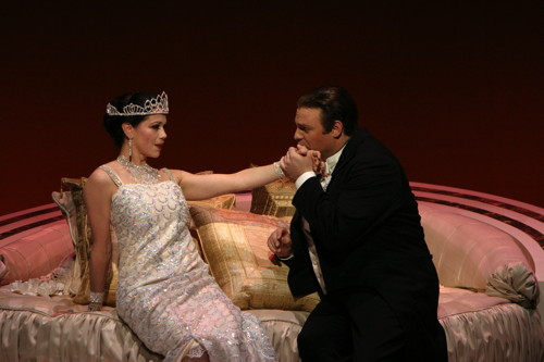 "A scene from LA Opera's June 2006 production of ""La Traviata."" Photo: Robert Millard."