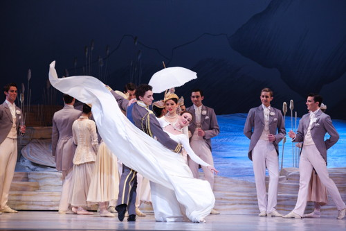 Madeleine Eastoe and Kevin Jackson in Swan Lake - The Australian Ballet -  Photo by Lisa Tomasetti.