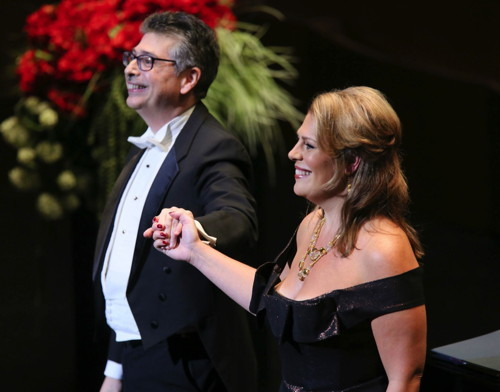 Sondra Radvanovsky and Anthony Manoli  Photo credit- Craig T. Matthew_Matthew Imaging — with LA Opera.