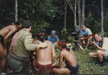 Borneo: preparing a shot.