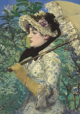 Spring (Jeanne Demarsy) by Édouard Manet - Getty.