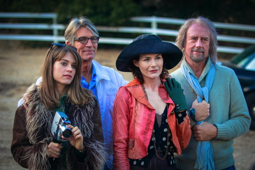 Lyndsy Fonseca, Eric Roberts, Saxon Trainor and Xander Berkeley in 'Moments of Clarity.' Photo by Carol Sue Stoddard.