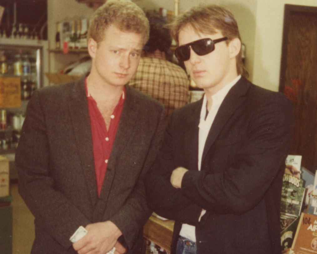 An early photo of Smart Studios founders Steve Marker and Butch Vig.