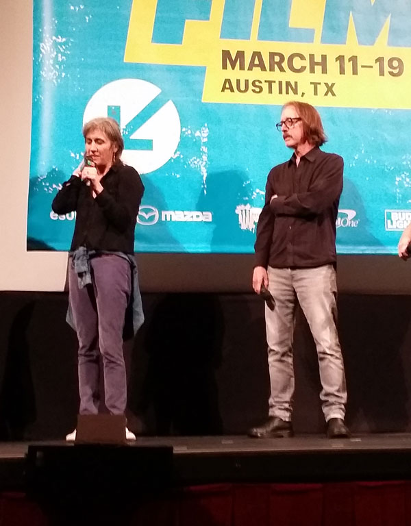 Director Wendy Schneider and Vig at the SXSW premiere of 'The Smart Studios Story.'