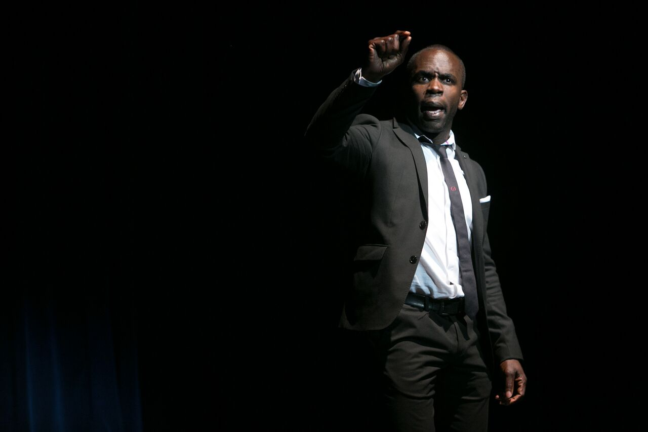 Jimmy Akingbola as Titus Andronicus. Images by Rex Gelert.