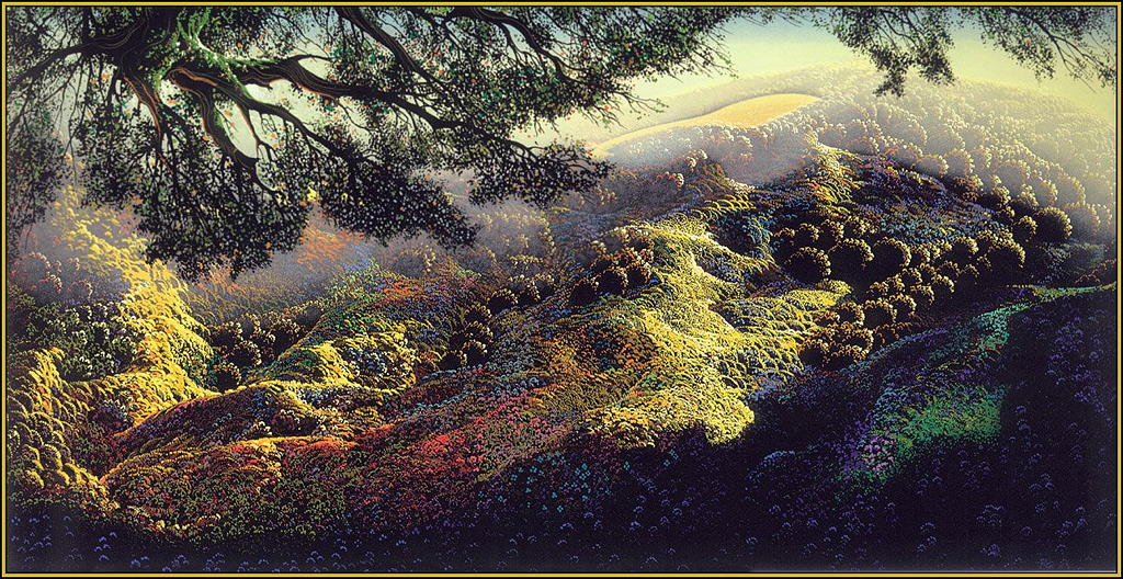 Eyvind Earle - Paradise. Photograph: Courtesy Earle Family Trust.