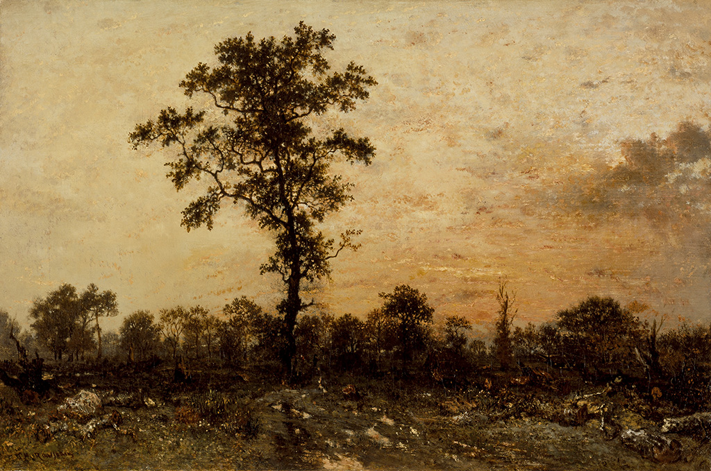 Edge of the Forest, Sun Setting, about 184546, Thodore Rousseau, oil on canvas. Courtesy of the Los Angeles County Museum of Art, purchased with funds provided by the William Randolph Hearst Collection by exchange. Image: www.lacma.org.