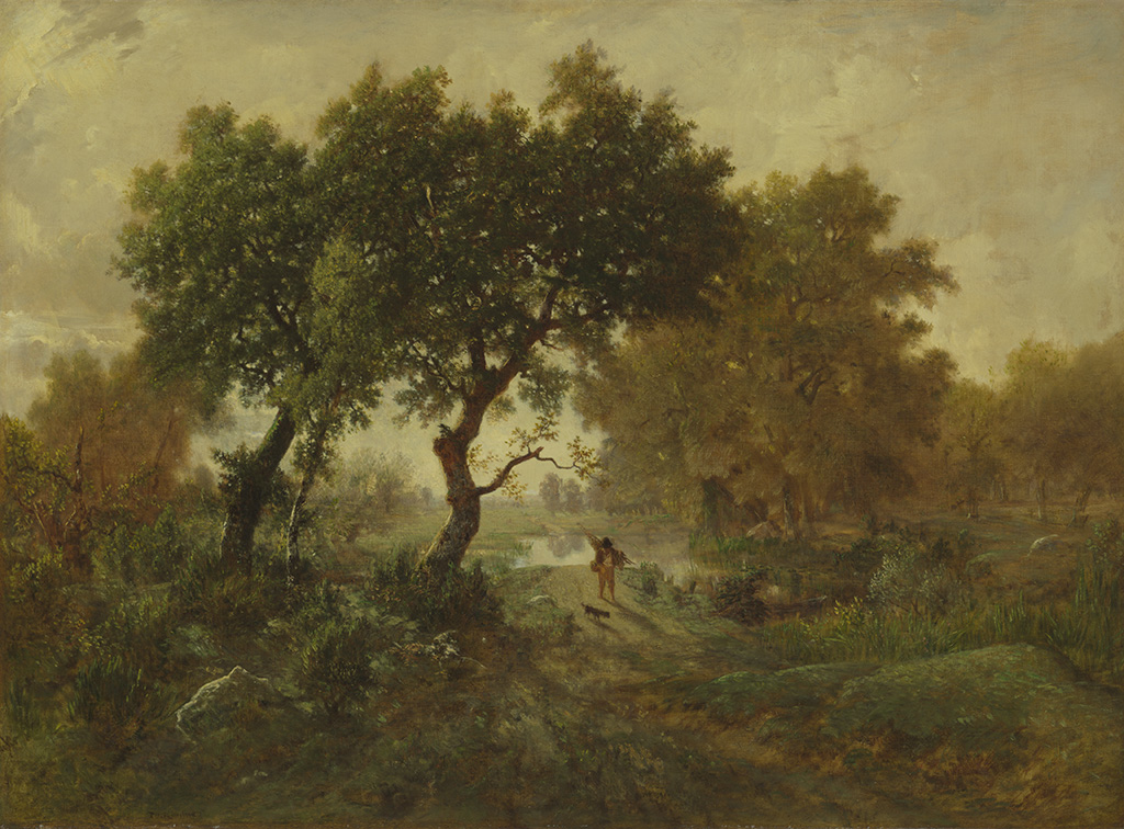 Morning Effect, about 1850, Thodore Rousseau, oil on canvas. Courtesy of the Norton Simon Foundation, Pasadena.