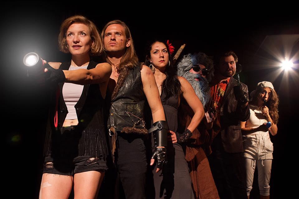 Thug Tunnel cast: Kat Primeau, Chris Bramante, Nikki Muller, Miles Crosman, Dave Reynolds and Molly Dworsky.