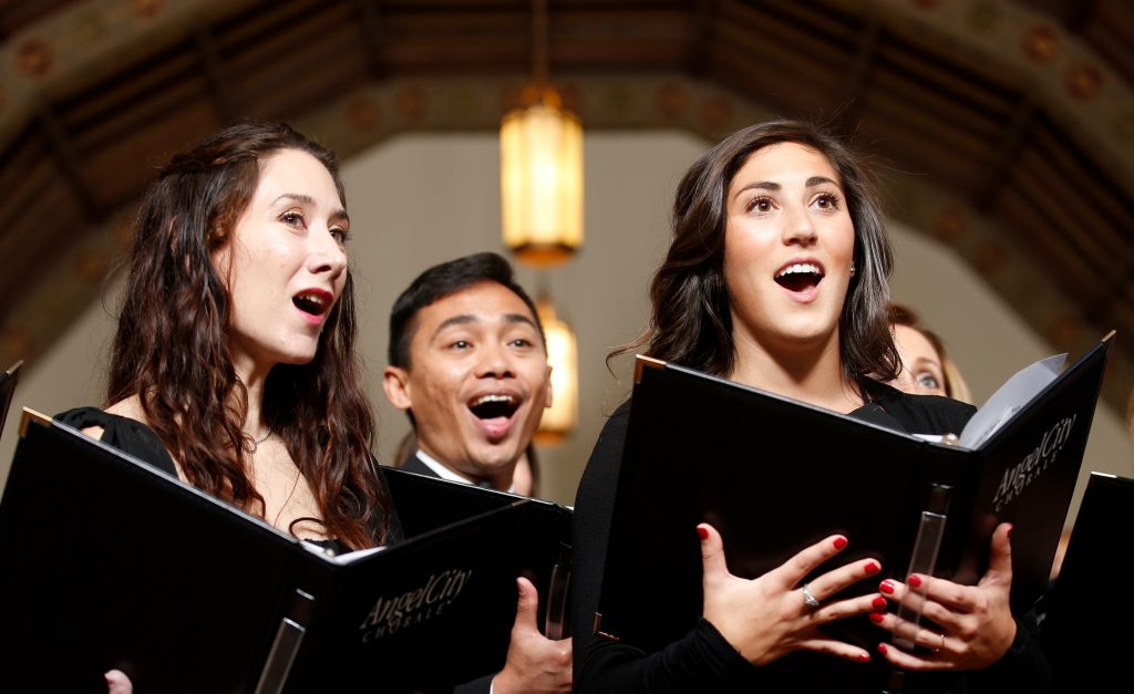 ACC singers Estella Ramirez, Philip Castro, and Victoria Morse – Photo by Moloshok Photography, Inc.