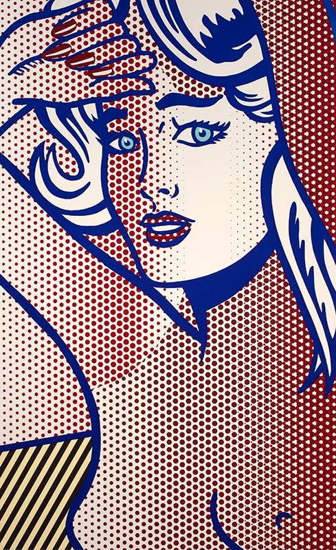 Roy Lichtenstein, Nude with Blue Hair, State I, from the Nudes Series, 1994. Private collection, Los Angeles. © Estate of Roy Lichtenstein.