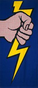 Roy Lichtenstein, Thunderbolt, 1966. Collection of the Jordan Schnitzer Family Foundation. © Estate of Roy Lichtenstein.