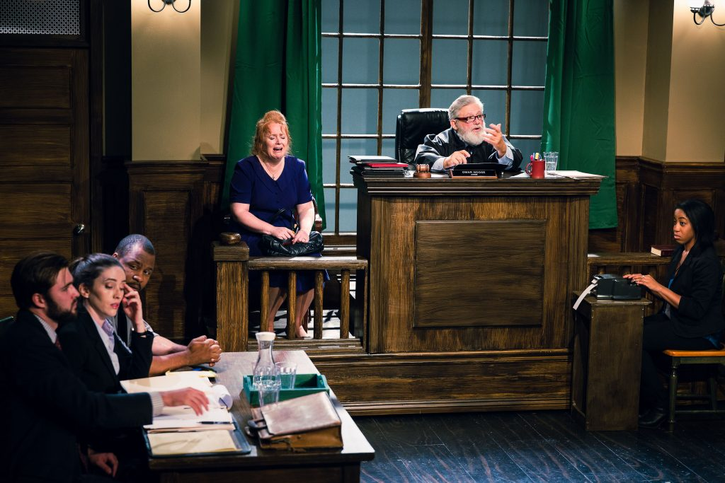 Production Still 5: Photographed by Doren Sorell from left to Right: Ian Robert Peterson, Mercedes Manning, Caroline Simone O'Brien, John William Young & Jenny Nwene.